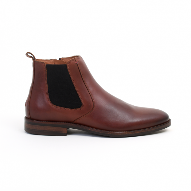 boots essential chelsea boot cognac tommy hilfiger